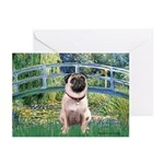 Bridge / Pug Greeting Cards (Pk of 10)