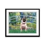 Bridge / Pug Framed Panel Print