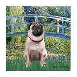 Bridge / Pug Tile Coaster
