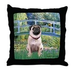 Bridge / Pug Throw Pillow