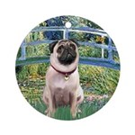 Bridge / Pug Ornament (Round)