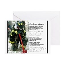 Old Version Firefighter Prayer Greeting Cards (Pk