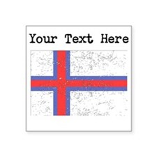 Faroe Islands Flag (Distressed) Sticker
