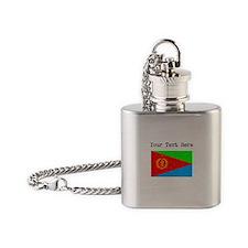 Eritrea Flag (Distressed) Flask Necklace