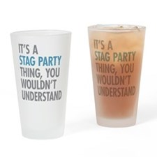 Stag Party Thing Drinking Glass