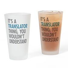 Translator Thing Drinking Glass