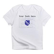 Bosnia Herzegovina Flag (Distressed) Infant T-Shir