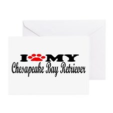 Chesapeake Bay Retriever - I Love My Greeting Card