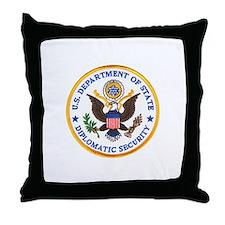 Diplomatic Security Throw Pillow