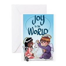 Joy to the World Blank Greeting Cards (Pk of 20)