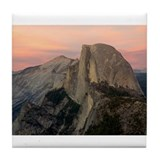 Half Dome at Twilight 1 Tile Coaster