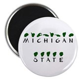 """Michigan State"" Fingerspelled 2.25"" Magnet (10 pa"