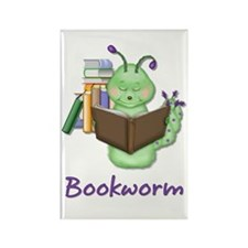 Reading Bookworm Rectangle Magnet