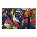 The Mandrill by Franz Marc Rectangle Bumper Stickers