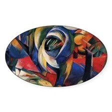 The Mandrill by Franz Marc Oval Decal