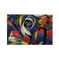 The Mandrill by Franz Marc Rectangle Magnet