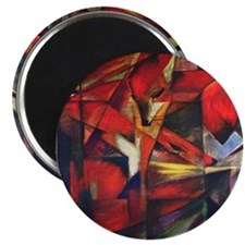 "The Fox by Franz Marc 2.25"" Magnet (10 pack)"