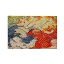 Cats by Franz Marc Rectangle Magnet (100 pack)