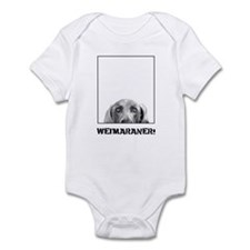 Weimaraner In A Box! Infant Bodysuit