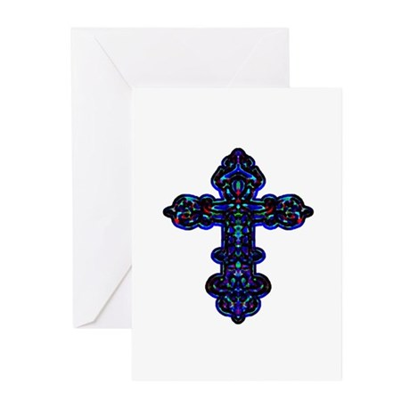 Ornate Cross Greeting Cards (Pk of 10)