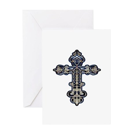 Ornate Cross Greeting Card