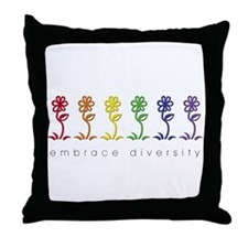 rainbow flower Throw Pillow