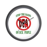 Stop The Raids Wall Clock