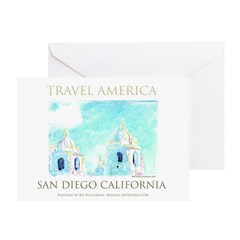 Travel America San Diego Greeting Card