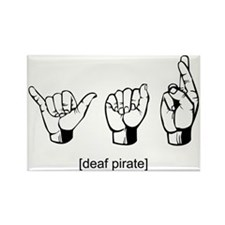 Deaf Pirate Rectangle Magnet (100 pack)