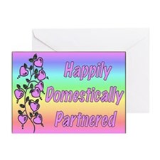 Happily Domestically Partnered Greeting Cards (Pk