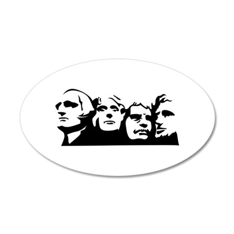 Mount Rushmore Outline Wall Decal
