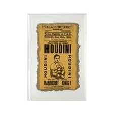 Vintage Houdini Poster Rectangle Magnet (100 pack)