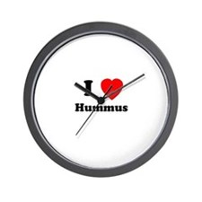 I Heart Hummus Wall Clock
