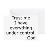 Trust Me... God Greeting Cards (Pk of 20)