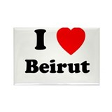 I Heart Beirut Rectangle Magnet (100 pack)
