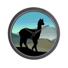 Blue Hills Alpaca Wall Clock