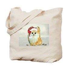 Christmas Pomeranian Tote Bag