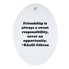 Friendship Oval Ornament