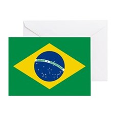 """Brazil Flag"" Greeting Card"