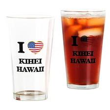 I love Kihei Hawaii Drinking Glass