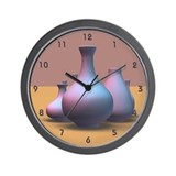 Pottery Vases Wall Clock