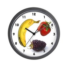 Kitchen 3 fruit Wall Clock