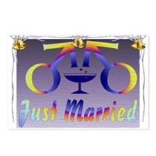 Just Married Men Postcards (Package of 8)