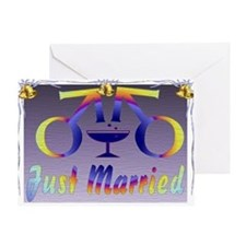 Just Married Men Greeting Card