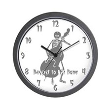 Bassist To The Bone Wall Clock