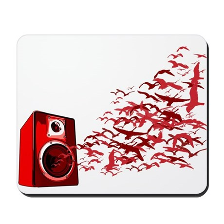 Fly away with the music Mousepad