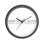 Keep Vinyl Alive Wall Clock