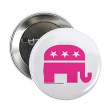 "GOP Pink Elephant 2.25"" Button (10 pack)"