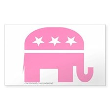 GOP Pink Elephant Rectangle Decal