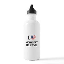 I love Mchenry Illinoi Water Bottle